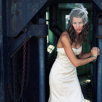Inspiration, Wedding Dresses, Veils, Fashion, white, green, dress, Bride, Veil, Board, Birdcage, Photobolic