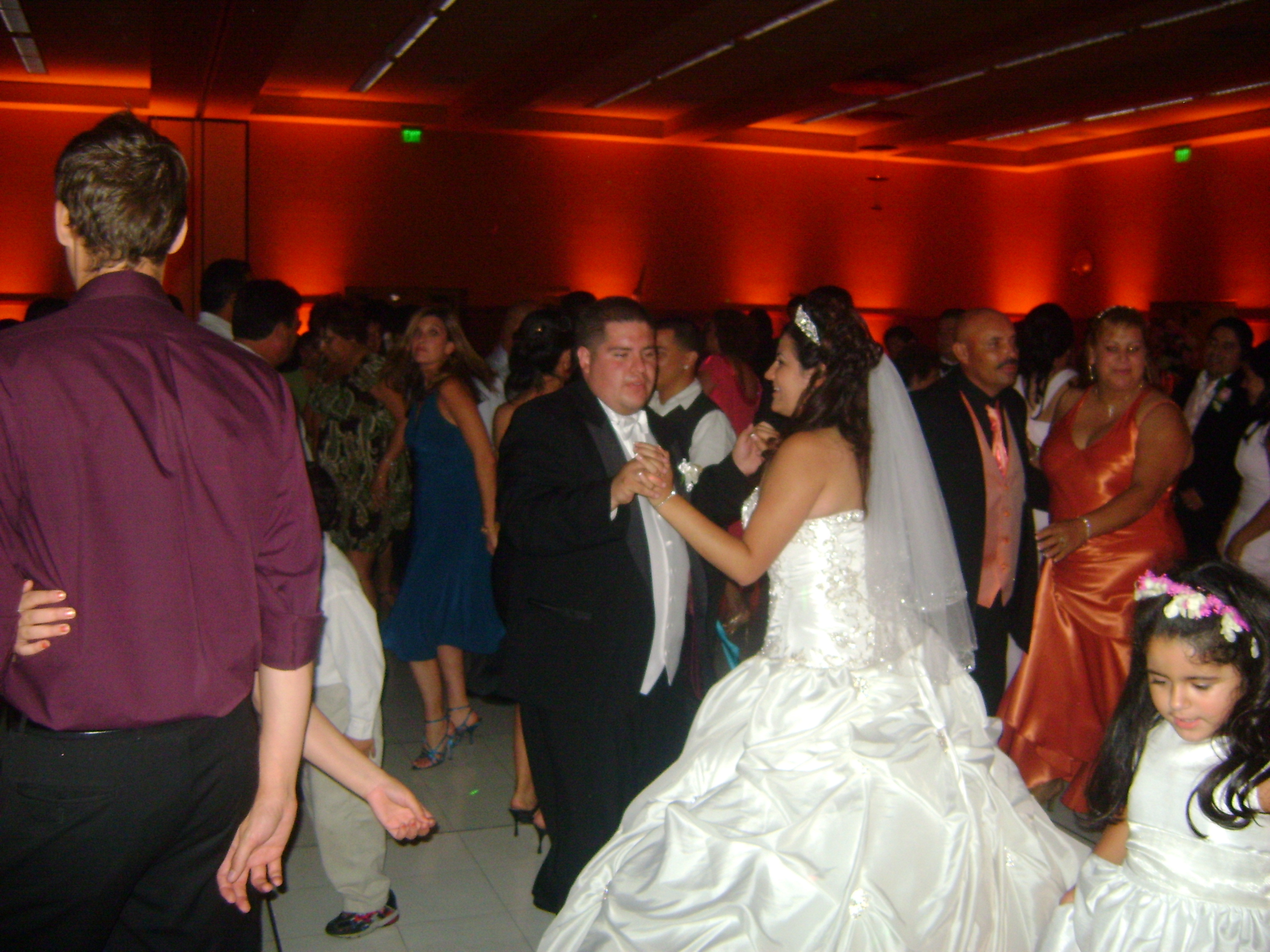 Reception, Flowers & Decor, yellow, orange, purple, blue, brown, black, gold, Dancing, With, Firstchoicedjs, First choice djs