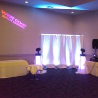 Ceremony, Reception, Flowers & Decor, white, purple, blue, Lighting, And, Setup, First choice djs