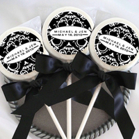 Reception, Flowers & Decor, Favors & Gifts, white, yellow, orange, pink, red, purple, blue, green, brown, black, Favors, Wedding, Accent the party, Lollipops