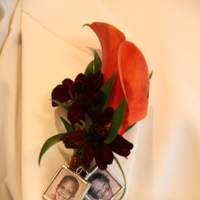 Ceremony, Reception, Flowers & Decor, Jewelry, orange, red, gold, Groom, Boutonniere, Charms, Jameson creations