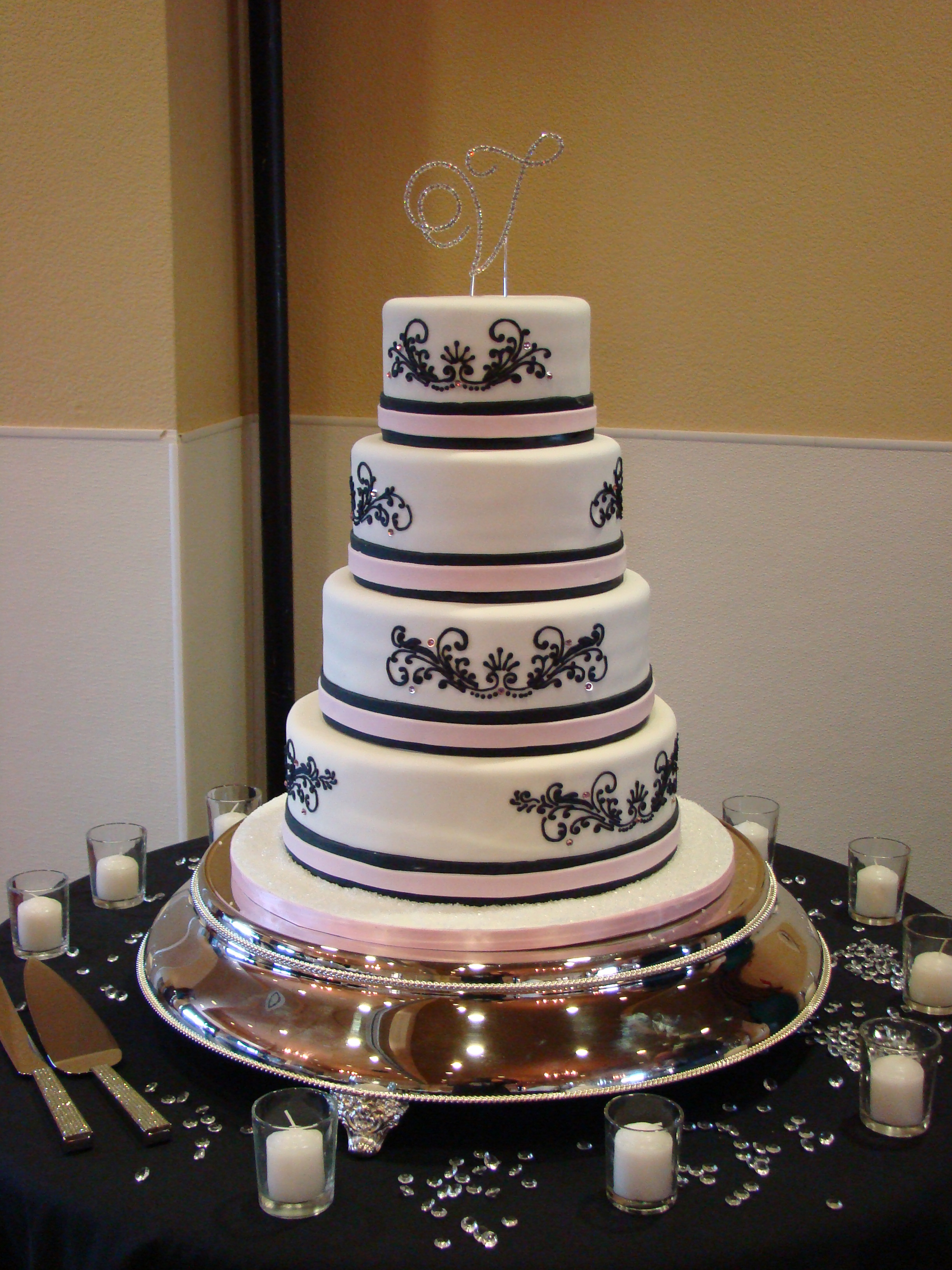Cakes, white, pink, black, cake, Sweet, By, Rebecca, Sweet cakes by rebecca