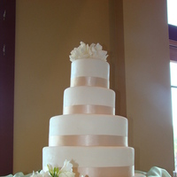 Flowers & Decor, Cakes, white, ivory, gold, cake, Flowers, Sweet, Champagne, By, Rebecca, Sweet cakes by rebecca