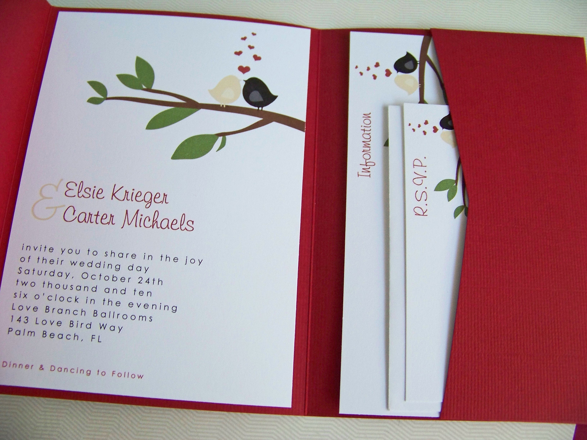 Favors & Gifts, Stationery, white, red, black, invitation, Favors, Invitations, Cards, Pocketfold, Little spark creations