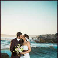 Ceremony, Flowers & Decor, blue, green, Beach, Bride, Beach Wedding Flowers & Decor, Groom, Portrait, Wedding, Sunset, California, Inn, Studio, Point, Carmel, Bliss, Bliss wedding studio, Highlands, Lobos