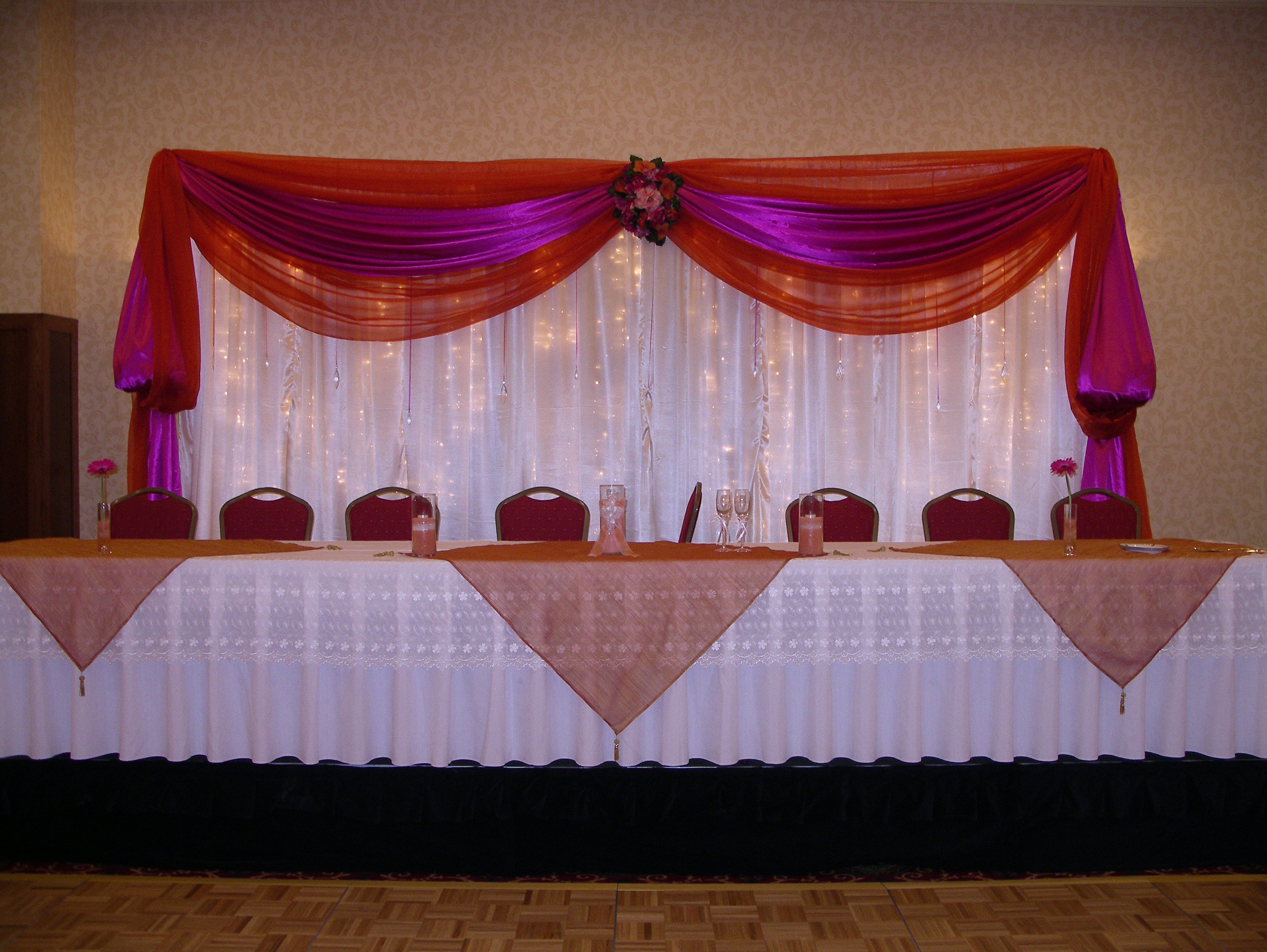 Reception, Flowers & Decor, orange, pink, A tailored affair