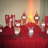 Reception, Flowers & Decor, red, Candy, Buffet, Bar