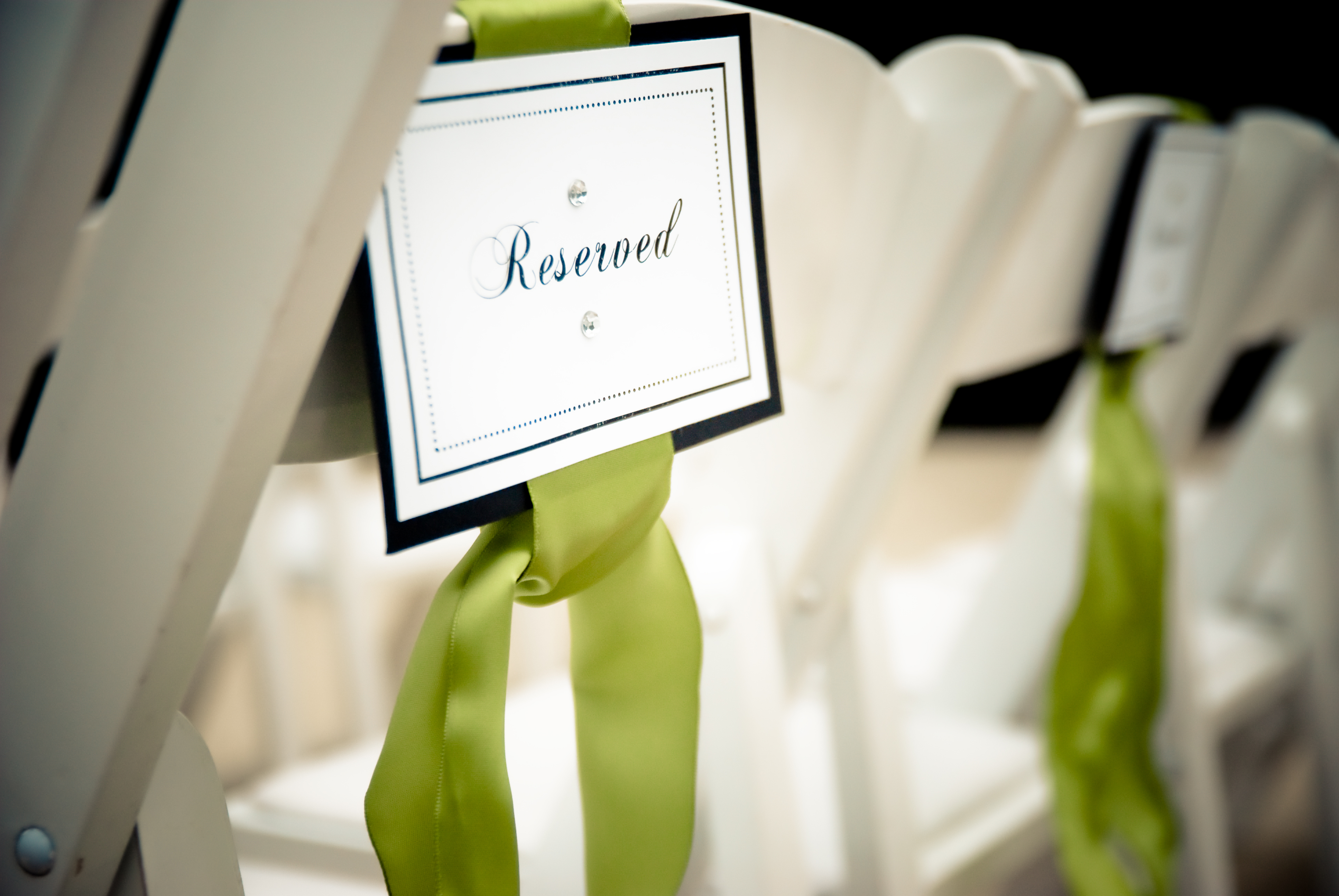 Ceremony, Flowers & Decor, white, green, Signs