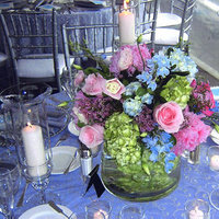 Inspiration, Reception, Flowers & Decor, pink, purple, blue, silver, Centerpieces, Flowers, Centerpiece, Table, Board, Superior event planning