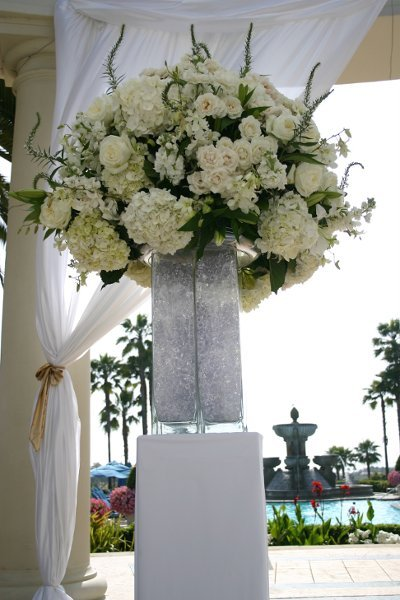 Ceremony, Reception, Flowers & Decor, white, yellow, silver, Ceremony Flowers, Centerpieces, Flowers, Centerpiece, Table, Superior event planning