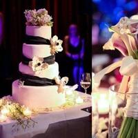 Reception, Flowers & Decor, Cakes, purple, brown, cake, Bride Bouquets, Flowers, Bouquet, Atstudio