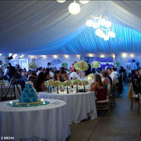Reception, Flowers & Decor, white, blue, Lighting, Tent, llc, Amy nixon events