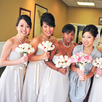 Beauty, Flowers & Decor, Bridesmaids, Bridesmaids Dresses, Fashion, Makeup, Updo, Bridesmaid Bouquets, Flowers, Hair, Asian, Flower Wedding Dresses