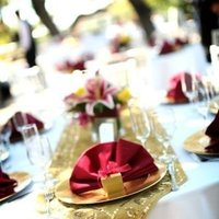 Reception, Flowers & Decor, Favors & Gifts, white, pink, red, gold, favor, Centerpieces, Flowers, Centerpiece, Napkin