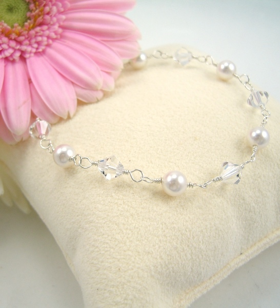 Jewelry, white, Bracelets, Bride, Crystal, Bracelet, Emmas bridal jewelry, Pearl