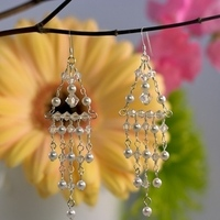 Jewelry, Bridesmaids, Bridesmaids Dresses, Fashion, white, Earrings, Bride, Crystal, Chandelier, Emmas bridal jewelry