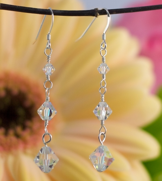 Jewelry, Bridesmaids, Bridesmaids Dresses, Fashion, Earrings, Bride, Long, Crystal, Emmas bridal jewelry