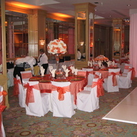 Reception, Flowers & Decor, white, orange, Lighting, Chair, Covers, Overlays, Pure elegance
