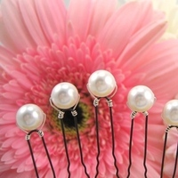 Beauty, white, Hairpin, Accessories, Bridesmaid, Hair, Bridal, Hairpins, Emmas bridal jewelry, Pearl