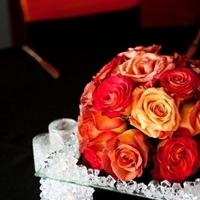 Flowers & Decor, orange, red, Centerpieces, Flowers, Centerpiece, Low