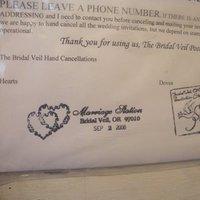 Stationery, Invitations, Bridal veil post office