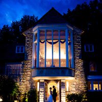 Reception, Flowers & Decor, pink, blue, Fountain, Night, Stone, Tracy carolyn photography
