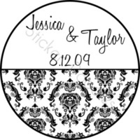 Favors & Gifts, Stationery, Favors, Invitations, Monogram, Wedding, Elegant, You, Thank, Personalized, Damask, Stickers, Party doodles