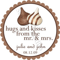 Favors & Gifts, favor, Monogram, Wedding, Chocolate, Candy, Sticker, Kisses, Party doodles, Hugs