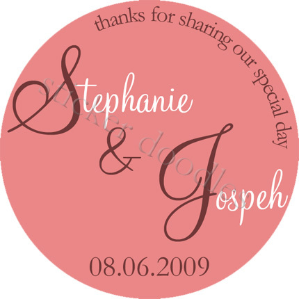 Favors & Gifts, Favors, Monogram, Wedding, Sweet, You, Thank, Personalized, Stickers, Sentiment, Party doodles