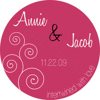 Favors & Gifts, Stationery, Favors, Invitations, Monogram, Wedding, You, Thank, Personalized, Love, Stickers, Swirls, Party doodles