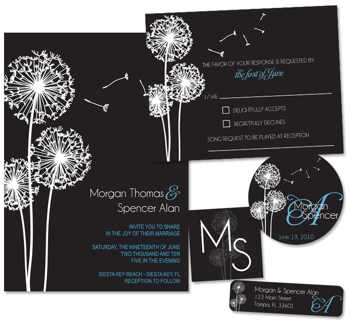 Stationery, blue, black, invitation, Invitations, Monogram, Stationary, Rsvp card, Lw designs, Return address label