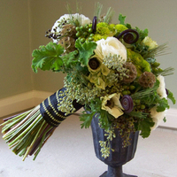 Flowers & Decor, white, green, black, Bride Bouquets, Flowers, Bouquet, Floral verde llc