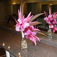 Beauty, Flowers & Decor, pink, Feathers, Bride Bouquets, Flowers, Bouquet, Orchid, Floral, Orchids