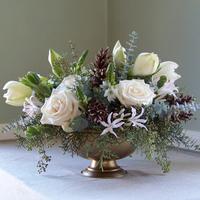 Flowers & Decor, white, pink, blue, green, brown, gold, Centerpieces, Flowers, Centerpiece, Floral verde llc