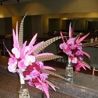 Beauty, Flowers & Decor, pink, Feathers, Bride Bouquets, Flowers, Bouquet, Floral, Orchids