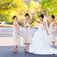 Bridesmaids, Bridesmaids Dresses, Wedding Dresses, Fashion, ivory, dress, Bouquet