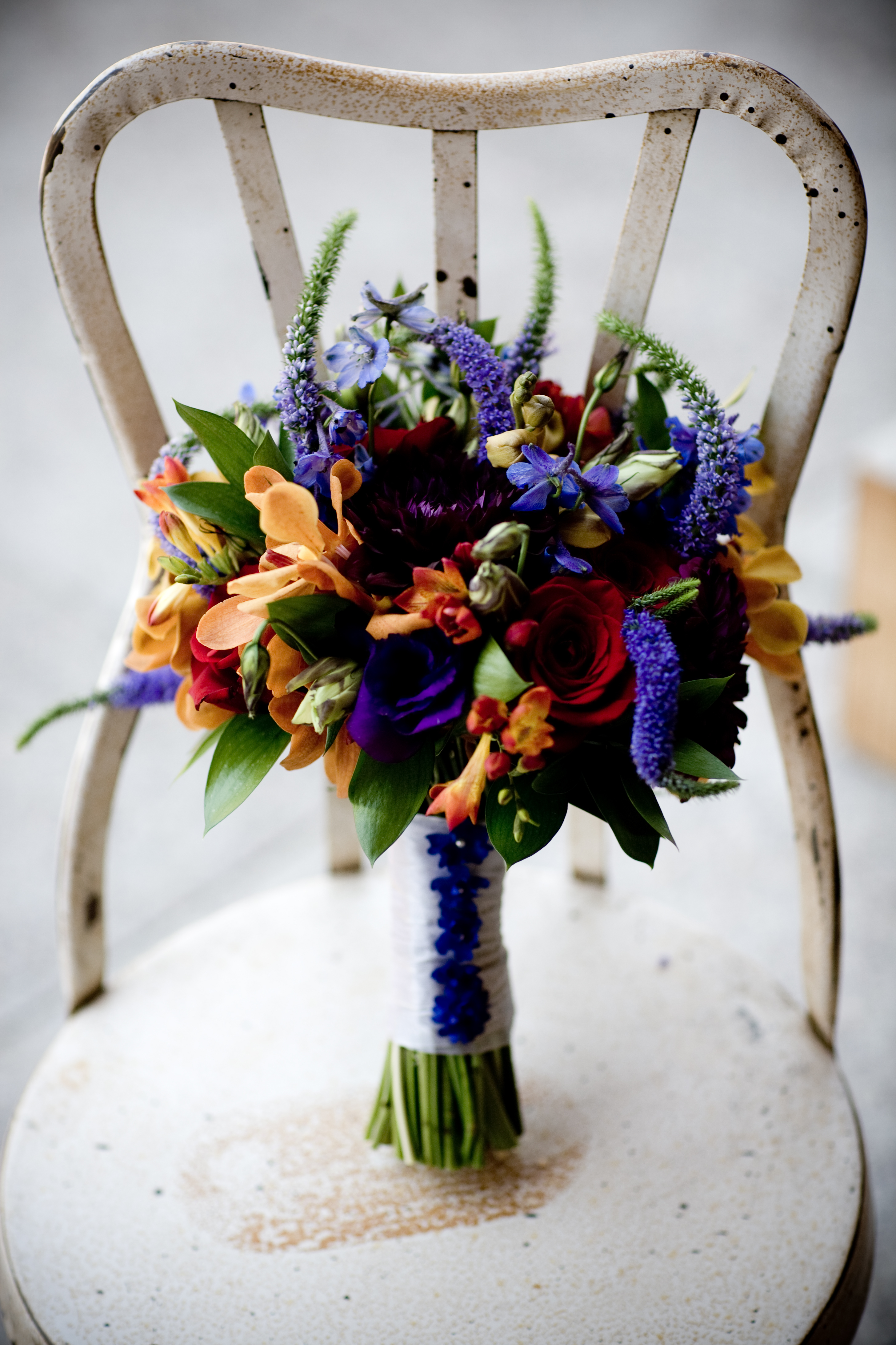Purple Blue And Orange Wedding Flowers Bridal Bouquetvendors Fl Occasions Project
