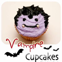 Cakes, purple, black, cake, Cupcakes, Animated cupcakes, Vampire