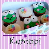 Cakes, green, cake, Cupcakes, Frog, Animated cupcakes, Keroppi, Sanrio