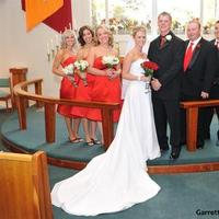 Ceremony, Flowers & Decor, Bridesmaids, Bridesmaids Dresses, Fashion, red, Ceremony Flowers, Bride Bouquets, Bridesmaid Bouquets, Bride, Flowers, Groom, Wedding, Party, Church, Peak events llc, Flower Wedding Dresses