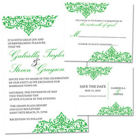 Stationery, white, green, brown, black, silver, invitation, Invitations, Party, Bachelorette, The, Save, Date, Monograms, Stationary, Rsvp cards, Lw designs