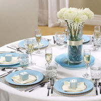 Reception, Flowers & Decor, white, blue, silver, Events by erica