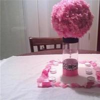 Reception, Flowers & Decor, pink, black, Centerpieces, Centerpiece