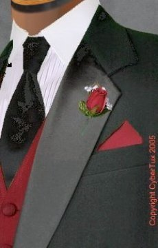 Fashion, white, red, black, Men's Formal Wear, Tux