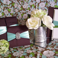 Favors & Gifts, Stationery, blue, green, brown, Favors, Invitations, Menu, Cards, Silk, Folio, Southern charm design