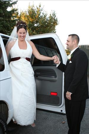 Ceremony, Reception, Flowers & Decor, Wedding Dresses, Fashion, white, dress, Wedding, Limousine, A limo affair