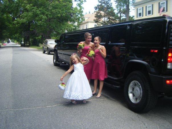 white, pink, black, Limousine, Hummer