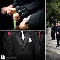 Ceremony, Reception, Flowers & Decor, Fashion, white, red, black, Men's Formal Wear, Tux