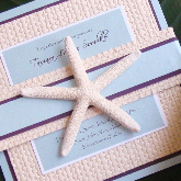 Stationery, Destinations, white, yellow, blue, brown, gold, invitation, Beach, Beach Wedding Invitations, Invitations, Wedding, Tropical, Destination, Starfish, Moore creative