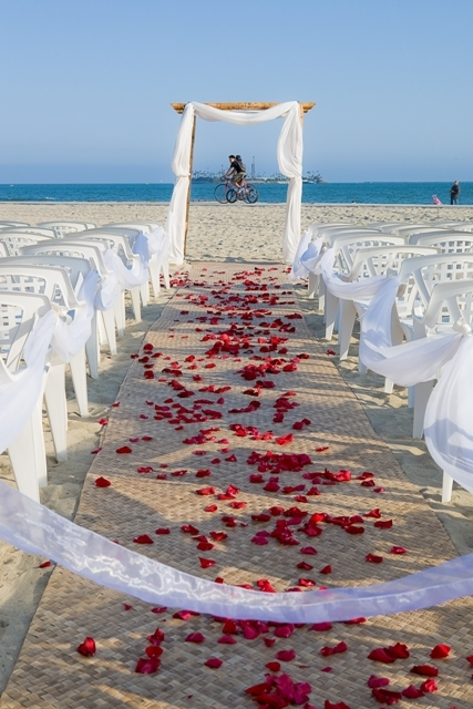 Ceremony, Flowers & Decor, white, red, blue, Beach, Ceremony Flowers, Flowers, Beach Wedding Flowers & Decor, Wedding, Just wenderful